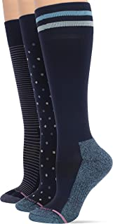 Women's 3-Pack Dots, Pinstripe, Varsity Stripe Compression Socks Sockshosiery