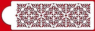 Designer Stencils C544 Mexican Tile Cake Stencil Tier 4, Beige/semi-transparent
