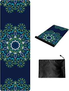Keolorn Printed Non Slip Suede Rubber Yoga Mats Exercise & Fitness Mat for All Types of Yoga, Pilates & Floor Workouts