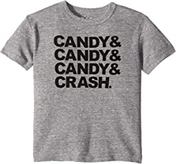 Soft Tri-Blend Candy Candy Candy Crash Crew Neck Short Sleeve Tee (Toddler/Little Kids)