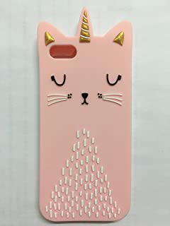 Cute 3D Cartoon Lovely Animal Design Soft Silicone Back Case Cover for iPhone 5 5G 5S SE (Mustache cat)