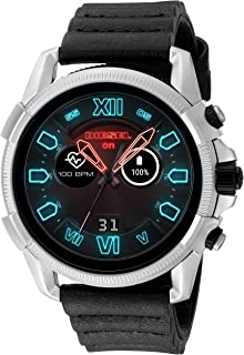 Diesel On Men's Gen 4 Full Guard 2.5 HR Heart Rate Silicone Touchscreen Smart Watch, Color: Black/Silver (Model: DZT2008)