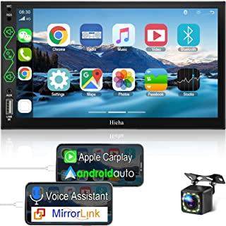 Hieha in-Dash Car Stereo Compatible with Apple CarPlay and Android Auto, 7 Inch Touch Screen Double Din Car Radio Support ... photo