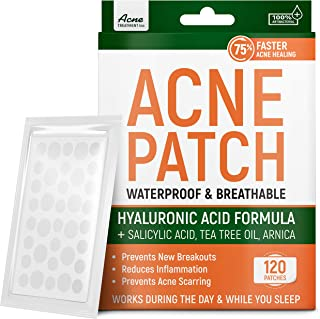 Acne Patches with Tea Tree Oil & Salicylic Acid - Fast & Efficient - Hydrocolloid Acne Patches for Cystic Acne, Blemishes,...