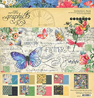 Graphic 45 4501776 Flutter 12x12 Collection Pack Craft Paper, Multi