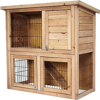 comprar comparacion EUGAD Conejera de Exterior Madera Gallinero Grandes Casa para Conejos Cobayas Hámster Mascotas Jaulas Grandes para Conejo ...