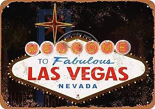 12x16 inch Metal Plaque,Hasirama Las Vegas Tin Wall Sign Metal Warning Plaque Retro Art Iron Painting Vintage Decor for Home Yard Road Bar Store Café