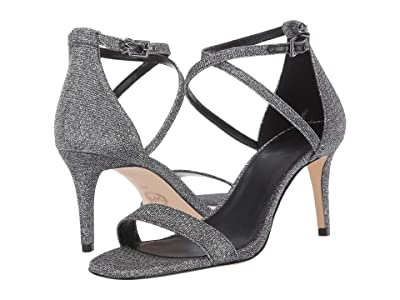 MICHAEL Michael Kors Ava Mid Sandal (Black/Silver) Women