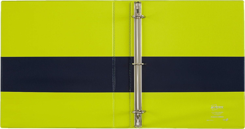 220-Sheet Capacity 1 Slant Rings Two-Tone Durable View Binder New Version 17196 Fuchsia//Green