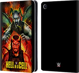 Official WWE Roman & Braun 2018 Hell in A Cell Leather Book Wallet Case Cover Compatible for Xiaomi Mi Pad 4 Plus