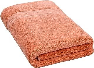 "Bloom Pima Zero Twist Bath Towel - 27"" x 54"" - Premium Ultra Soft, High Absorbency Pima Cotton - Quick Drying Luxury Spa Bath Towels - 600 GSM (Peach, 1 Pack)"