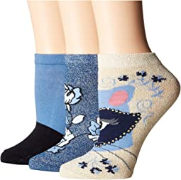 Raccoon Patch 3-Pack No Show Socks