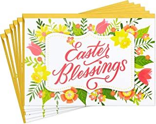 Hallmark Pack of Religious Easter Cards, Easter Blessings (6 Cards with Envelopes)