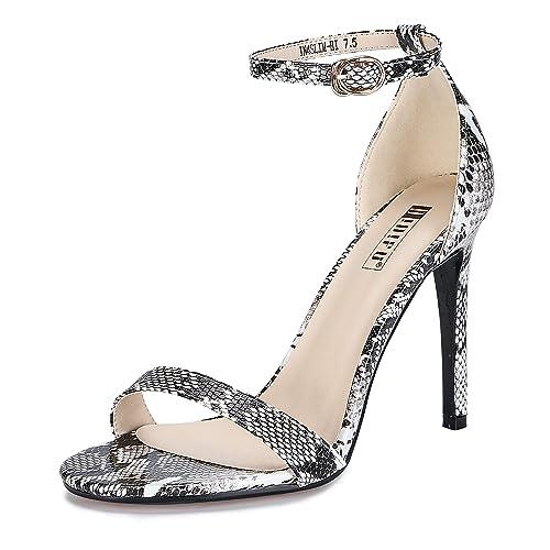 0ca31cae21 IDIFU Women's IN4 Slim-HI Open Toe Stiletto High Heel Ankle Strap Dress  Sandals Party