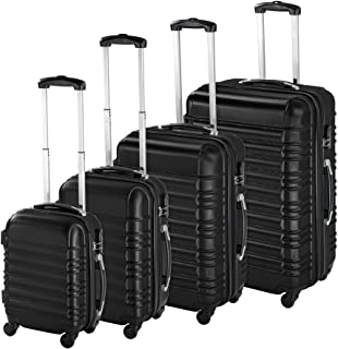 TecTake Set de 4 valises de Voyage de ABS avec Serrure à Combinaison intégrée   poignée télescopique   roulettes 360° - di...