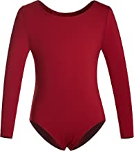 DANSHOW Girls' Team Basic Long Sleeve Leotard Toddler Gymnastics Dance Ballet Clothing