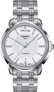 Tissot T-Classic Automatic III Day Date White Dial Men's Watch T065.930.11.031.00