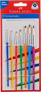 Faber-Castell Synthetic Hair Paint Brushes Round 7Pc (0,2,4,6,8,10,12)