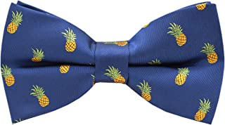 Handmade Formal Pre-Tied Tuxedo Bow Tie for Men-Pineapple Pattern