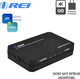 4K 1x2 HDMI Duplicator Splitter by OREI - with Scaler 2 Ports with Full Ultra HD, HDCP 2.2, 4K at 60Hz 4: 4: 4 1080p & 3D Supports EDID Control - UHD-PRO102