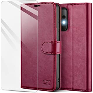 OCASE Samsung A52 Handytasche, Schutzhülle A52 [Panzerglas Schutzfolie] [Premium PU Leder] [Standfunktion] [Magnetverschlu...