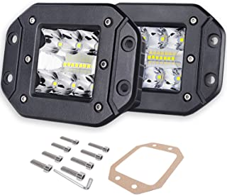 Flush Mount LED Pods, Auto Power Plus 2pcs 80W Flush Led Light Bar Spot Flood Driving Lights Super Bright Led Work Light Waterproof Off Road Fog Lights for Trucks Jeep Boat UTV ATV, 2Yrs Warranty