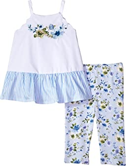 Mud Pie - Floral Tunic and Capris Two-Piece Set (Infant/Toddler)