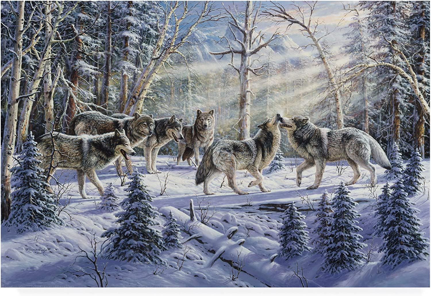 Trademark Fine Art Kindred Spirits Wolves by R W Hedge, 12x19