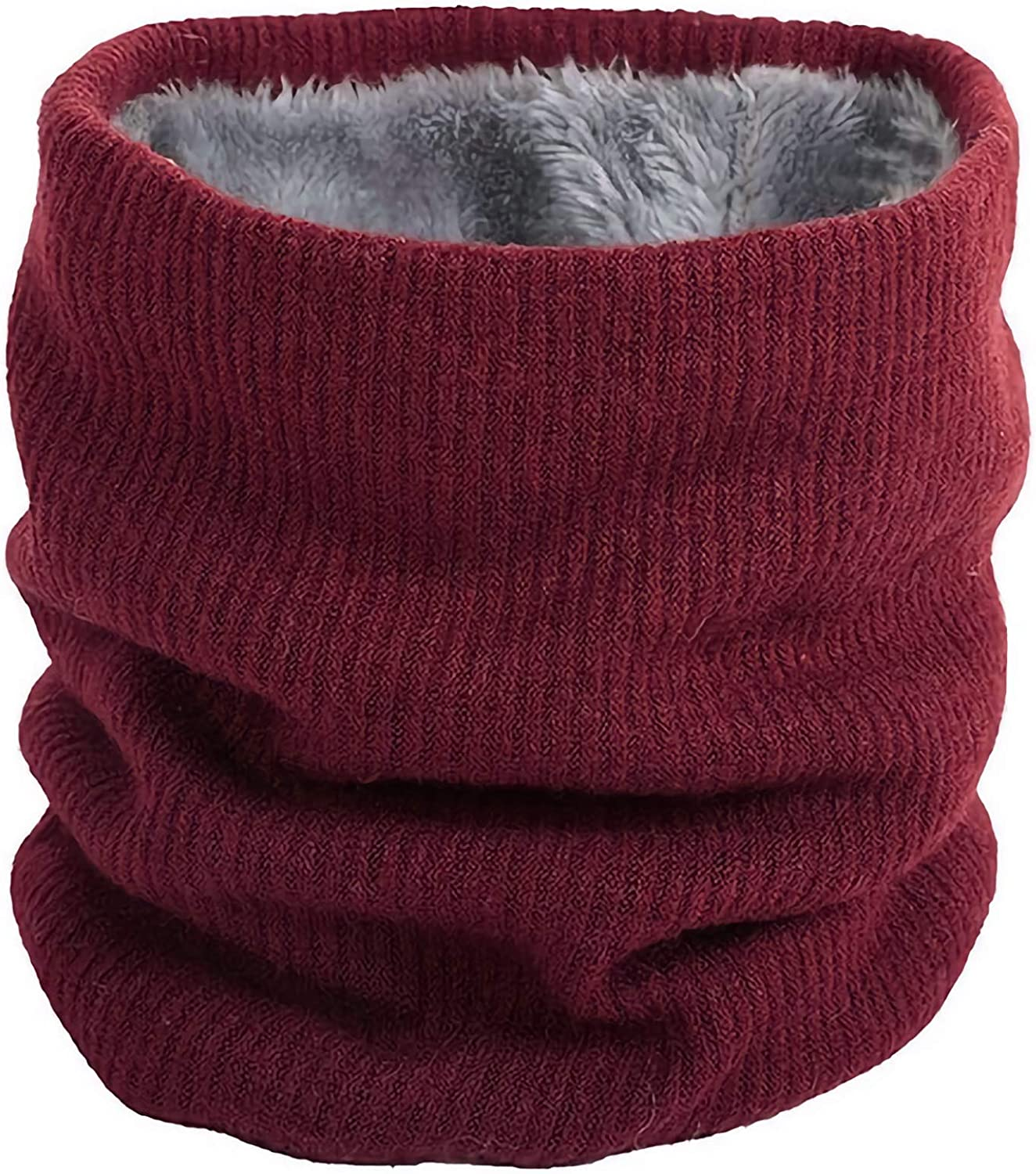 Winter Neck Warmer Fleece Lined Infinity Scarf Thick Thermal Windproof Unisex Men Women Warm Soft and Comfortable Double-Layer