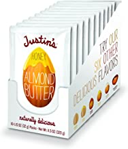 Justin's Honey Almond Butter Squeeze Packs, Gluten-free, Non-GMO, Sustainably Sourced, Pack of 10 (1.15oz each)