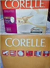 Corelle 24 Piece Livingware Dinnerware Set with Storage,Winter Frost White, Service for 4 (24 Piece Set)