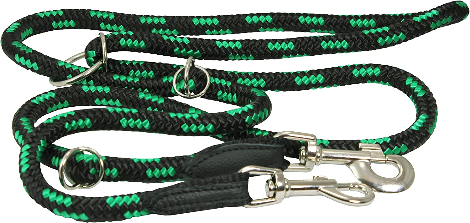 Adjustable Multifunctional Rope Dog Leash 42 70  (Large; 1 2  (12mm) Diam, Green Black)