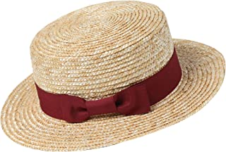 BABEYOND Men's 1920s Brim Boater Hat Gatsby Straw Hat 20s Costume Accessories