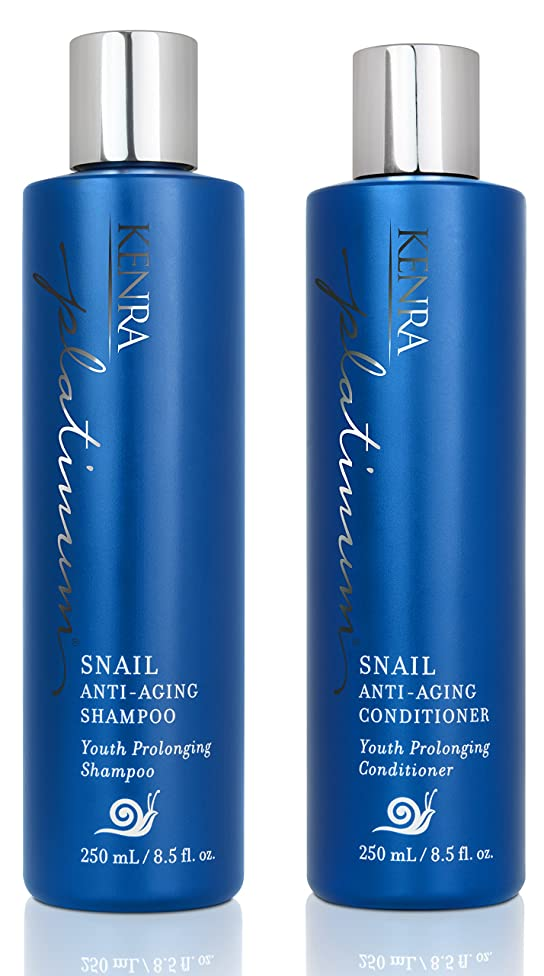 Kenra Platinum Snail Shampoo and Conditioner Set, 8.5-Ounce