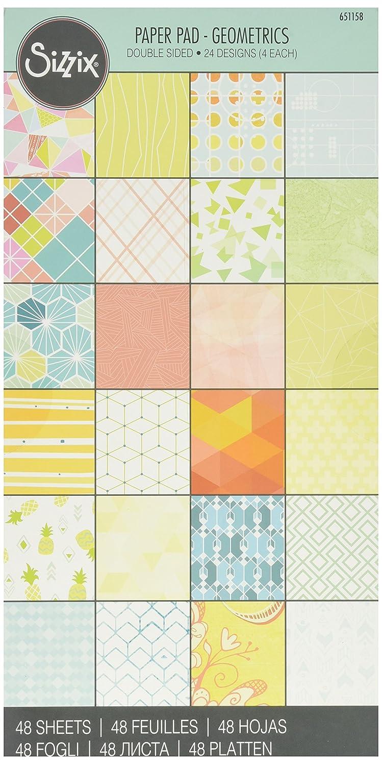 Sizzix 651158 Geometrics Cardstock Pad (48/Pack), 6