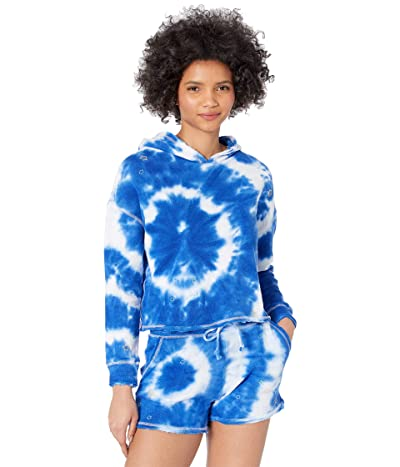 Chaser Tie-Dye Star Linen French Terry Pullover Hoodie