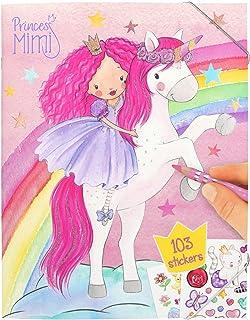 Depesche-DP-0010870 Libro para Colorear con Pegatinas, Princess Mimi, Aprox. 31 x 24 x 0,5 cm, Dibujos Animados, Color car...