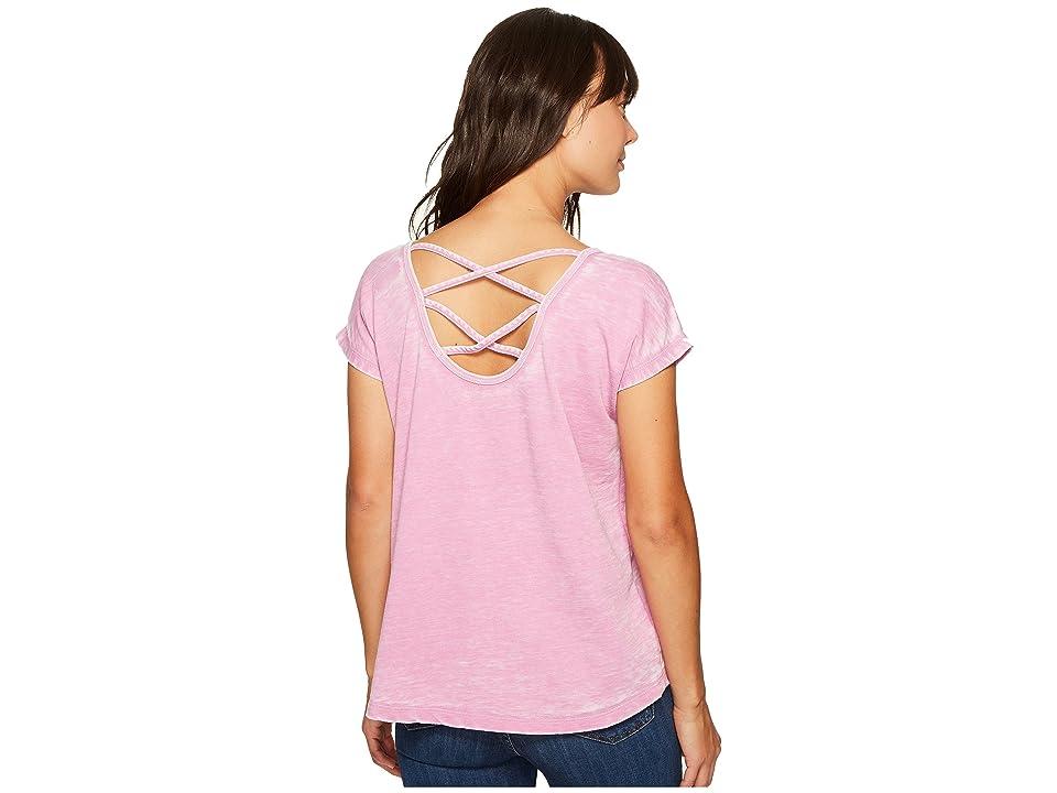 Allen Allen Double Cross Back Tee (Posey) Women's T Shirt