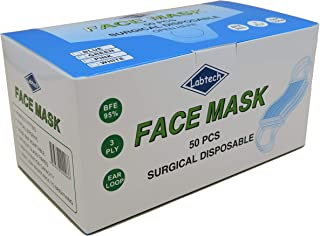 Labtech Surgical Disposable Face Mask, (Pack of 50)