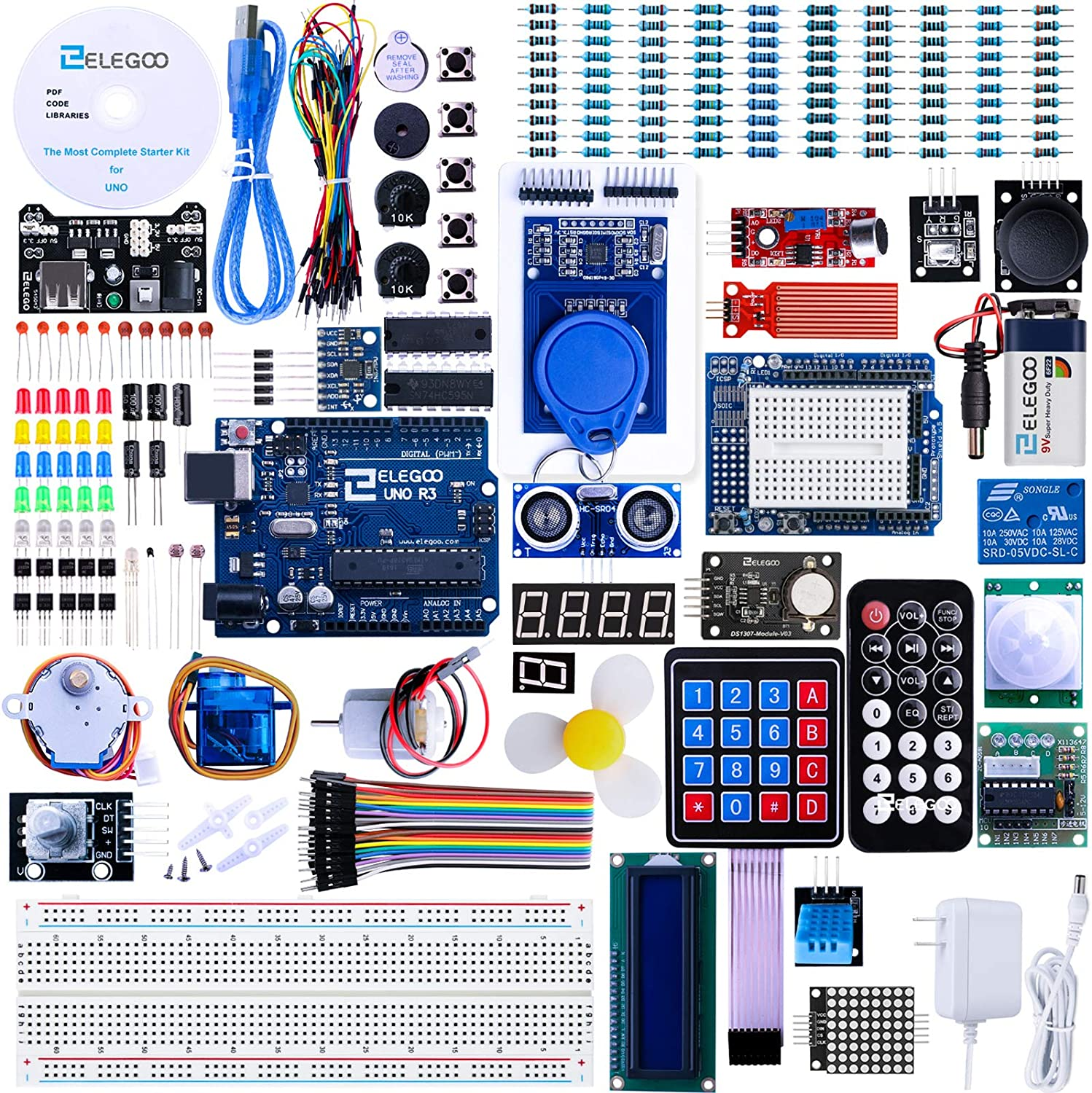 Choice ELEGOO UNO R3 Project Most Complete Compa Starter High quality Kit Tutorial w