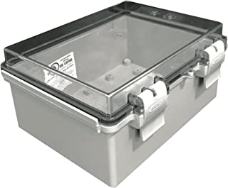 BUD Industries NBF-32412 Plastic Outdoor NEMA Economy Box with Clear Door, 7-55/64