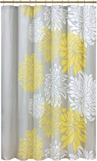 Comfort Spaces Enya Bathroom Shower Floral Printed Cute Chic Microfiber Fabric Bath Curtains, 72