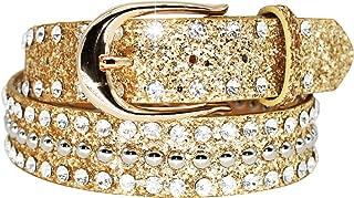 Sequin Belts for Women Rhinestone Jeweled Belts Black Silver Gold