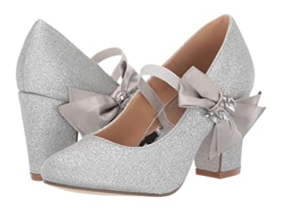 Badgley Mischka Kids Kylie Viv (Little Kid/Big Kid) (Silver Glitter) Girl