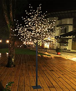 Lightshare 8Ft 600L LED Cherry Blossom City Tree, Home Garden&City Decoration,Wedding,Birthday,Christmas,Festival,Party Indoor and Outdoor Use,Warm White