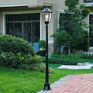 Vibret Rétro Lanterne en Verre Pilier lampadaire européen étanche extérieur lampadaire Vintage Victoria en Aluminium Villa...