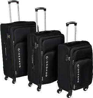 Giordano Luggage Trolley Bags Set of 3 Pcs, Black, 161761