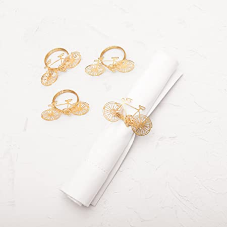 Spring Flowers Napkin Rings White Calla lily with Pink Center Handmade Set of FREE SHIPPING 4
