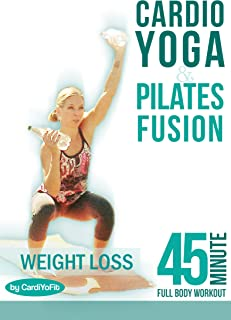CARDIO - YOGA & PILATES FUSION - 45 min Full Body Workout - Total Fitness & Weight Loss