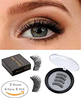 5cea2f271db ROWNYEON Magnetic Eyelashes Dual Magnetic False Eyelashes-Premium Quality  for Natural Look - Ultra Thin